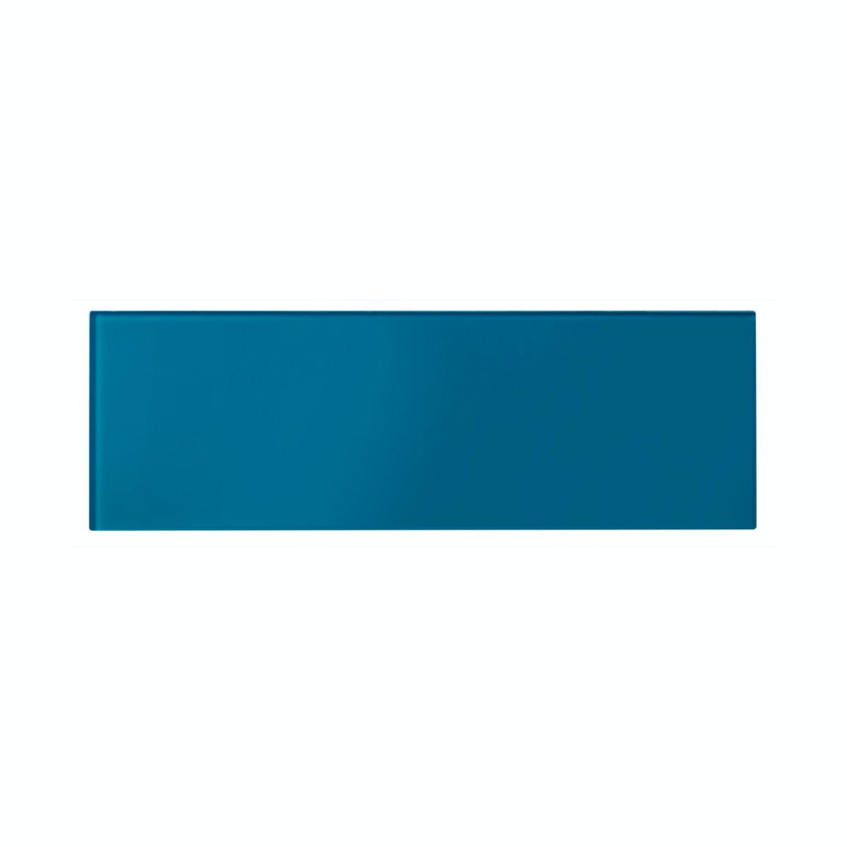 cut out of glass sea blue rectangular tile