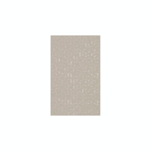 cut out of rectangular putty studio conran tile with pressed mosaic design