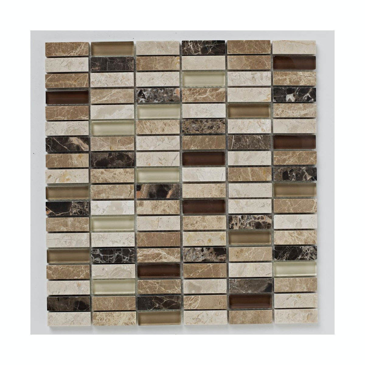 British Ceramic Tile Mosaic dapple beige matt tile 305mm x 305mm - 1 sheet