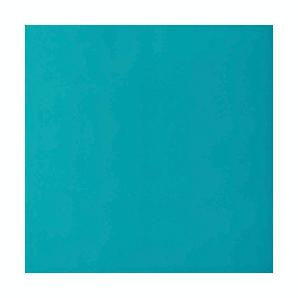cut out of square turquoise V&A tile
