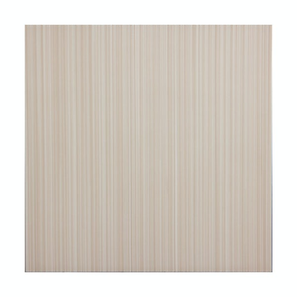 British Ceramic Tile Linear sand beige gloss tile 331mm x 331mm