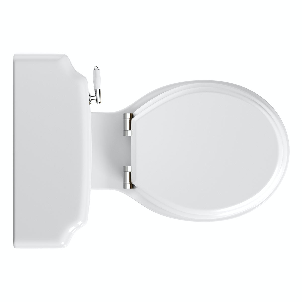 white wooden soft close toilet seat. Dulwich close coupled toilet with soft wooden seat white