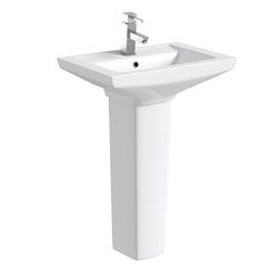 Brent 1 tap hole full pedestal basin 585mm