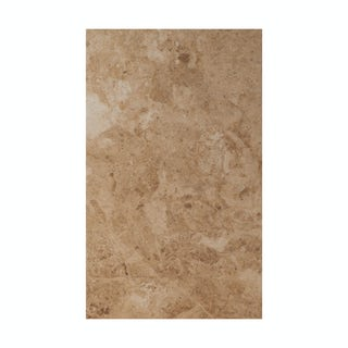 cut out of rectangular beige matt floor tile