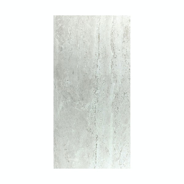 British Ceramic Tile Lux grey gloss tile 298mm x 598mm