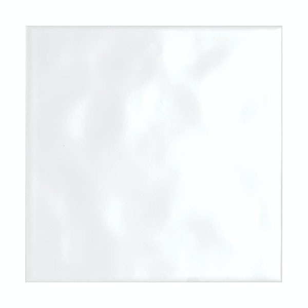 cut out of white gloss tile with bumpy texture