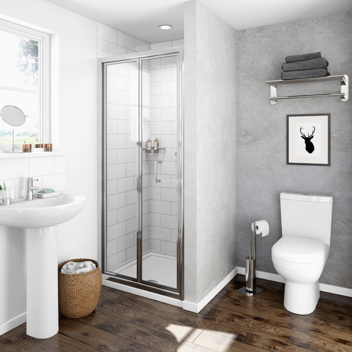 Clarity 4mm bifold shower door 700mm