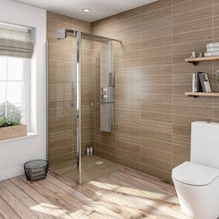 Complete walk in shower enclosure system 1600 x 800