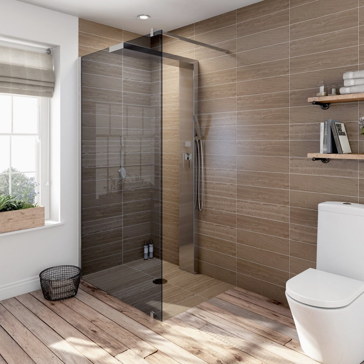 Complete walk in shower enclosure system 1200 x 900 for Small baths 1200