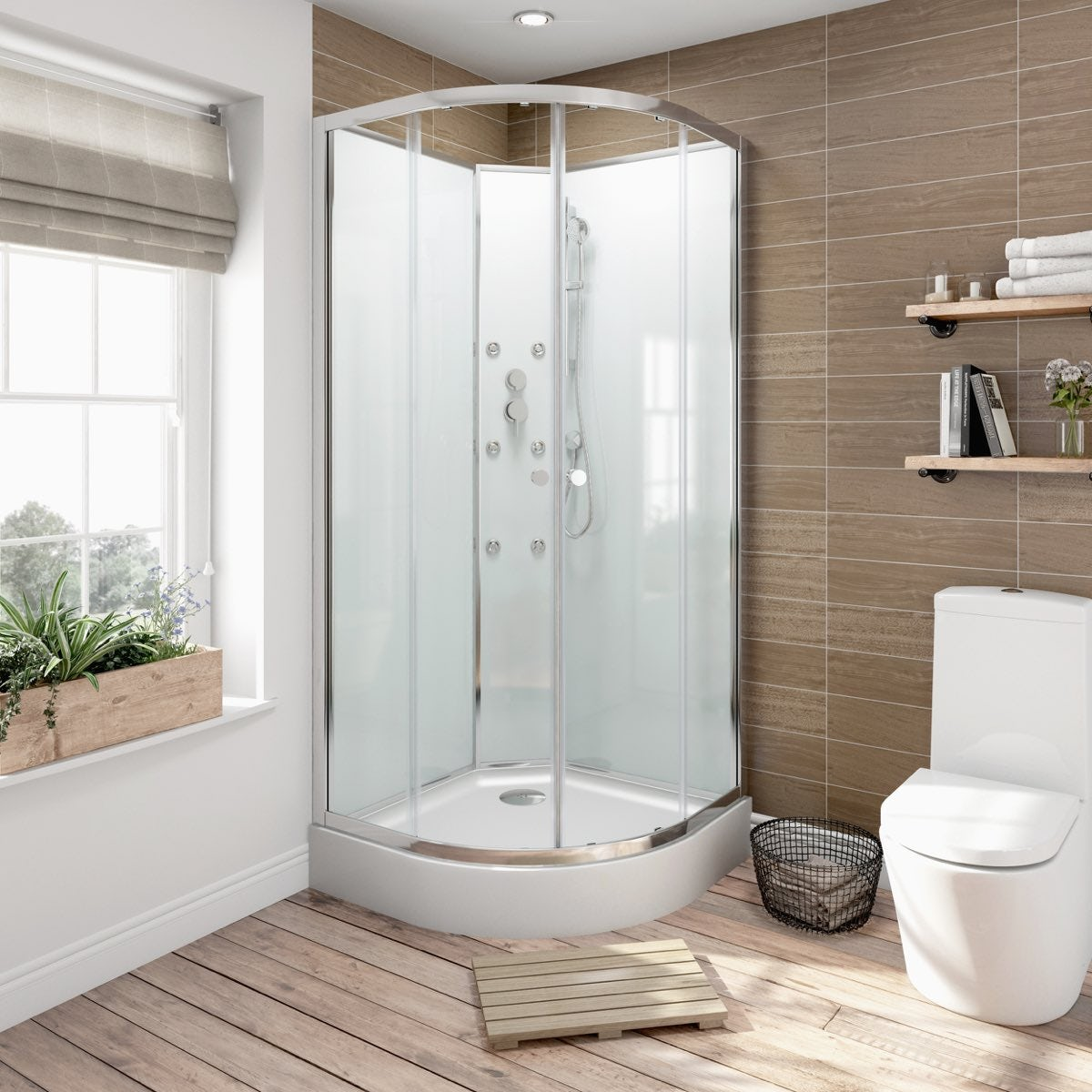 5mm Quadrant Glass Backed Shower Cabin 900 Victoriaplum Com