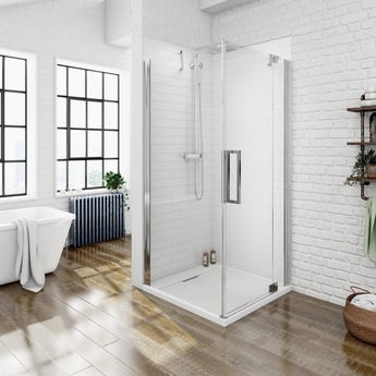Mode luxury 8mm right handed frameless hinged door shower enclosure