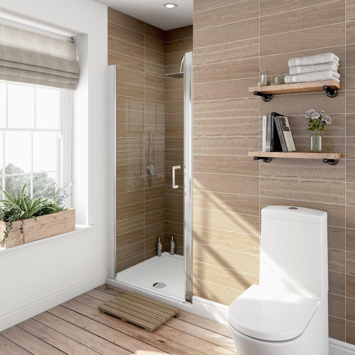 6mm frameless hinged shower door victoriaplum v6 6mm frameless hinged shower door 760 vtopaller Gallery