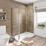 Orchard 6mm right handed P shaped shower enclosure 1500 x 900