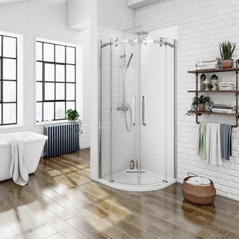 8mm Frameless Quadrant Shower Enclosure 900