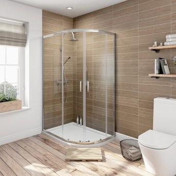6mm Quadrant Offset Shower Enclosure 1000 x 800 Special Offer