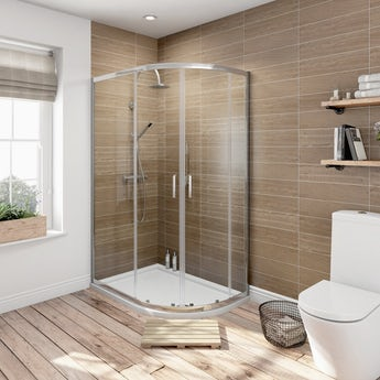 6mm sliding door offset quadrant shower enclosure