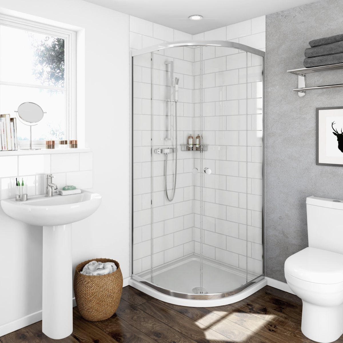 Clarity 4mm quadrant shower enclosure victoriaplum dailygadgetfo Gallery
