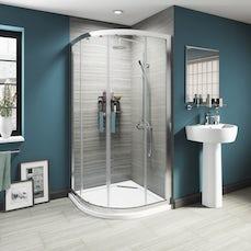 Image of V8 Framed Quadrant Shower Enclosure 1000 + Sealant