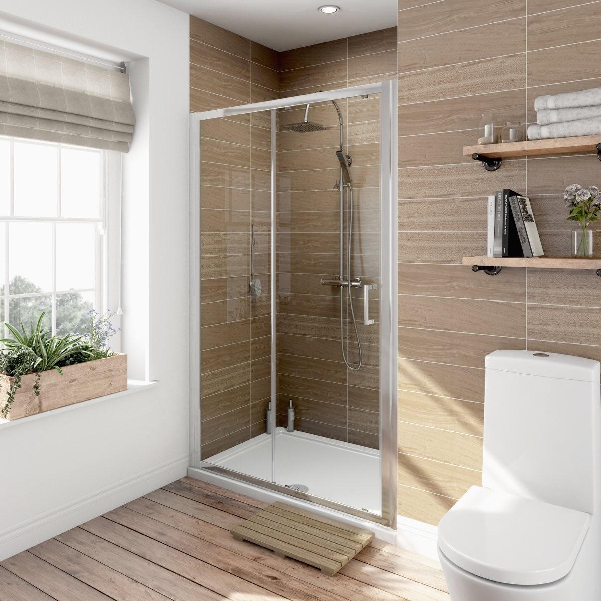Orchard 6mm sliding shower door 1000mm offer pack