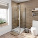 6mm pivot door shower enclosure 760 x 760