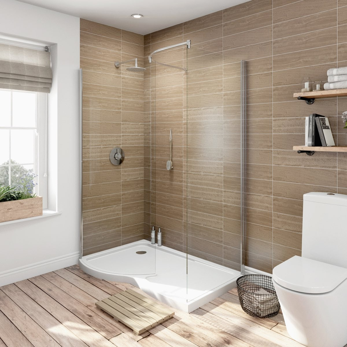 Priced To Clear V6 Curved Walk In Shower Enclosure U0026 Tray Pack 1400 X 900 LH