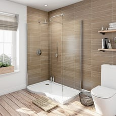 Image of V6 Curved Walk In Shower Enclosure & Tray Pack 1400 x 900 RH