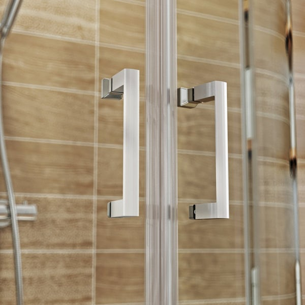 V6 6mm D Shaped Shower Enclosure