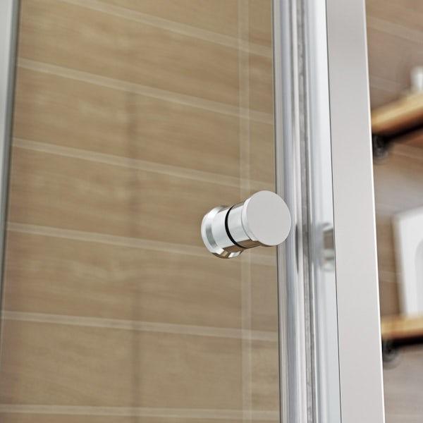 Glass Backed Rectangular Shower Cabin