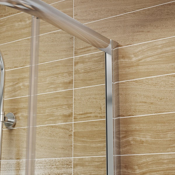 6mm D Shaped Shower Enclosure & Tray