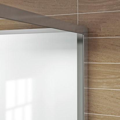 Glass Backed Rectangular Shower Cabin  X