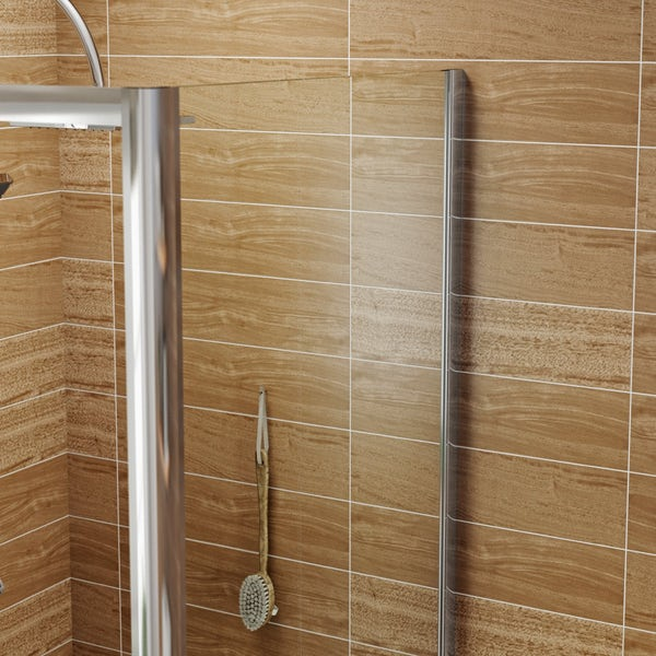 6mm pivot door rectangular shower enclosure offer pack