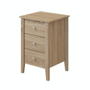 MFI Sydney oak 3 drawer bedside