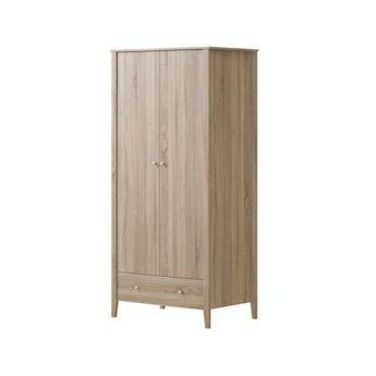 MFI Sydney oak 2 door, 1 drawer wardrobe