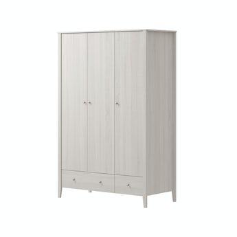 MFI Sydney white oak 3 door, 2 drawer wardrobe
