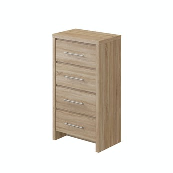 MFI London oak 4 drawer tall chest
