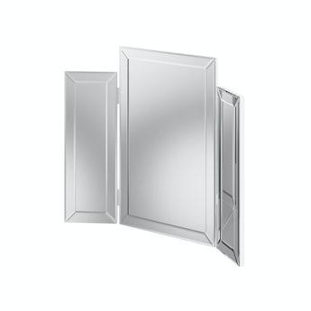 MFI Paris white glass trifold mirror