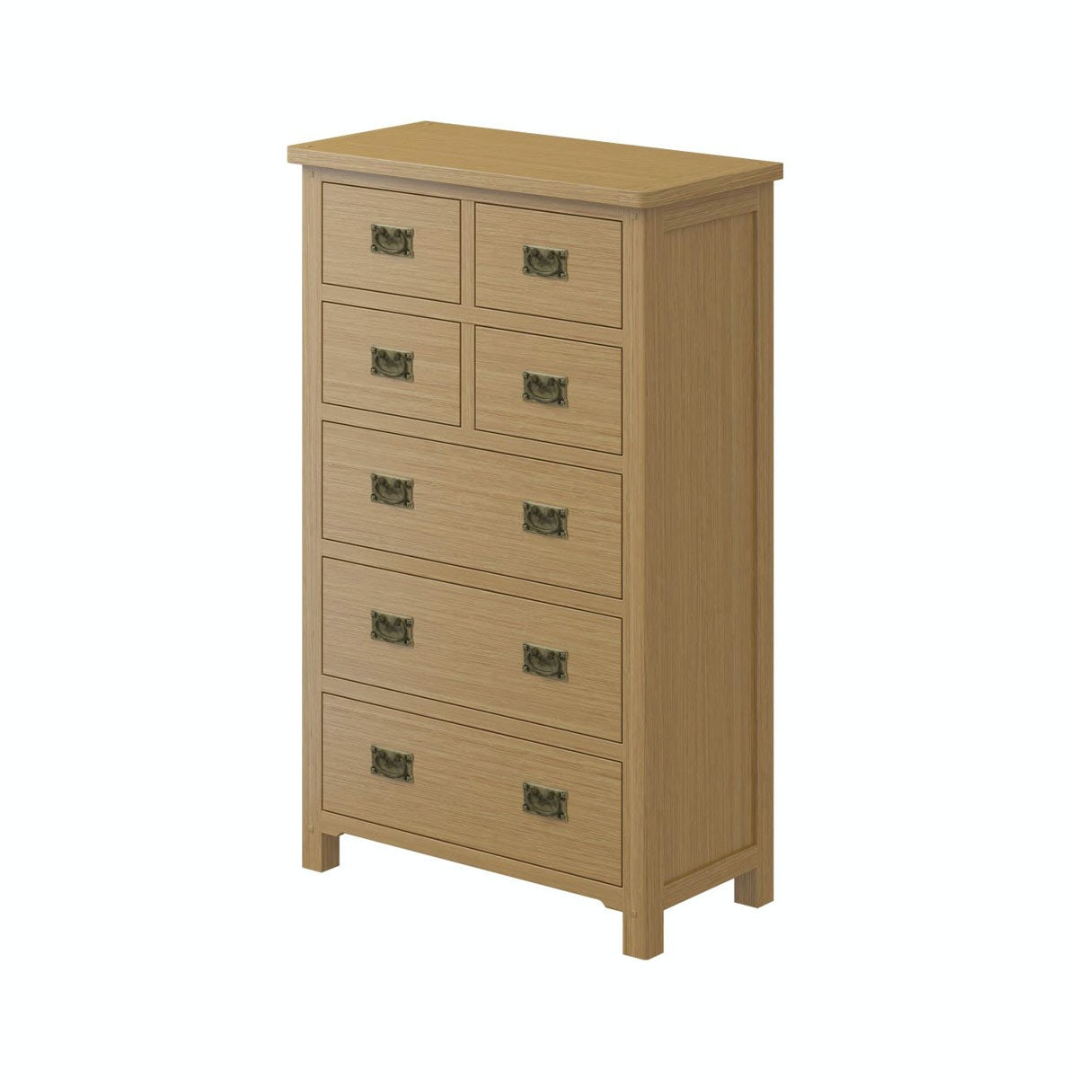 Rome Oak 4 over 3 Drawer Chest in Oak