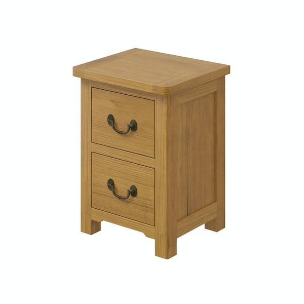 Rome Reclaimed Pine 2 Drawer Bedside in Reclaimed Pine