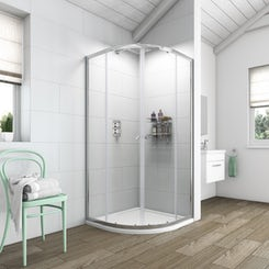 Simplicity 6mm quadrant shower enclosure 800 x 800