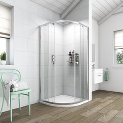 Simplicity 6mm quadrant shower enclosure 900 x 900