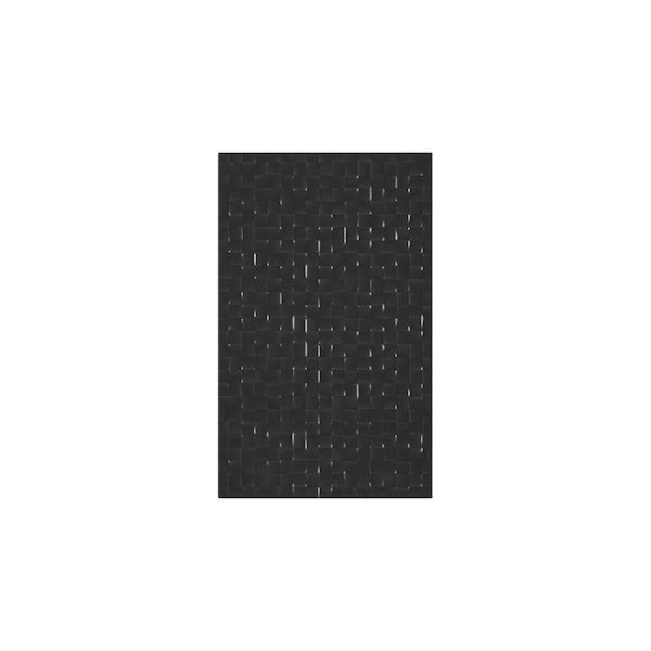 cut out of rectangular black studio conran tile with pressed mosaic design