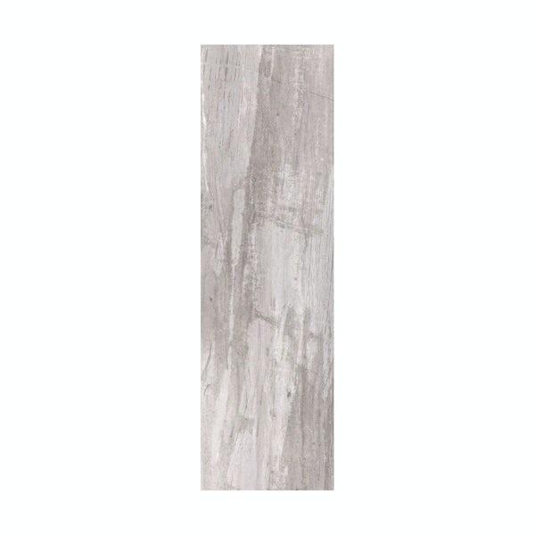 British Ceramic Tile Bark limed wood effect brown matt tile 148mm x 498mm