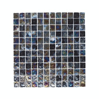 Mosaic iridescent black gloss tile 305mm x 305mm - 1 sheet