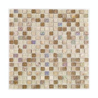 Mosaic freckle beige gloss tile 300mm x 300mm - 1 sheet
