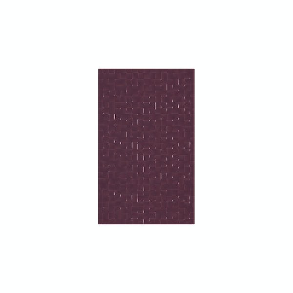 cut out of studio conran plum tile with pressed mosaic design