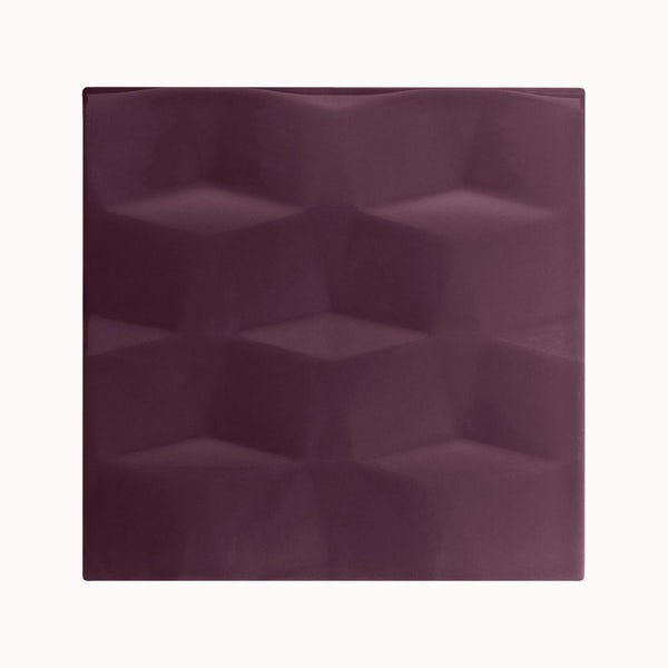 cut out of plum studio conran tile with raised facet texure