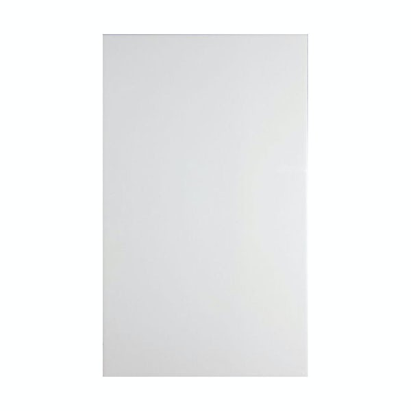 British Ceramic Tile Pure white satin tile 298mm x 498mm