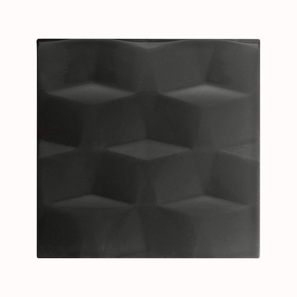 cut out of square black studio conran facet tile