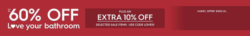 Up to 60% off; Late winter savings