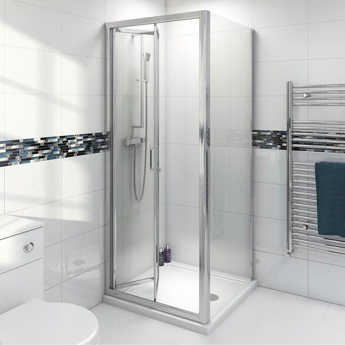 Clarity 4mm bifold shower enclosure